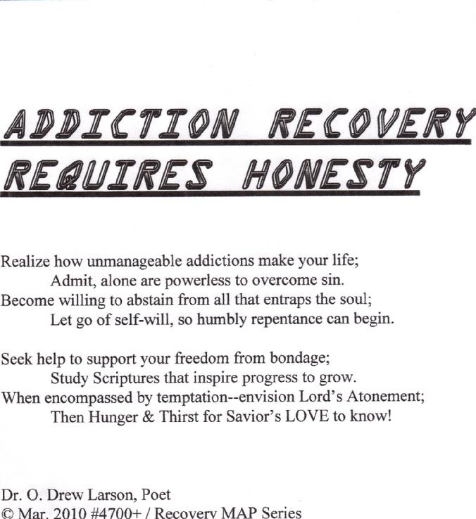 Honesty in addiction recovery worksheets